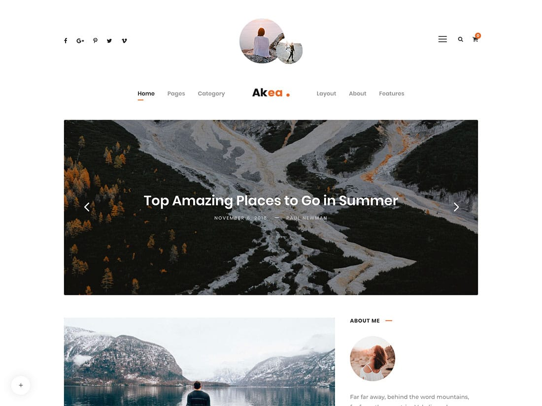 Akea theme de blog wordpress