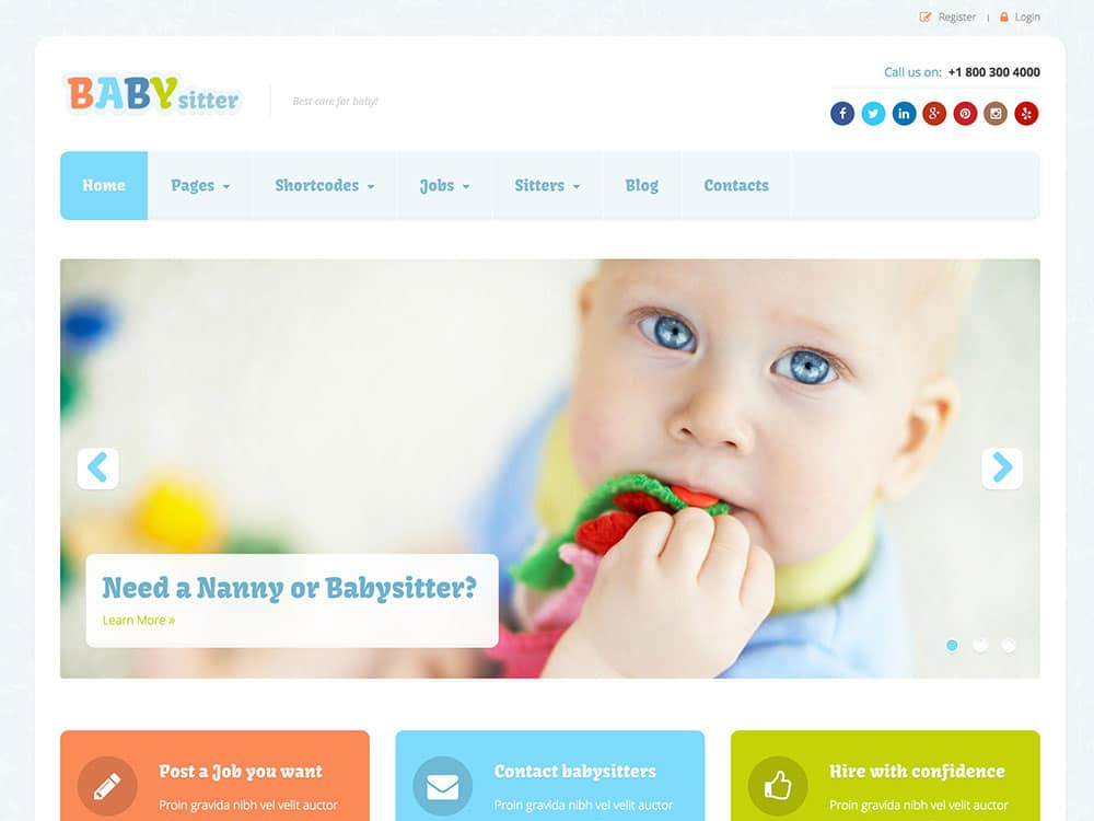 Babysitter-wordpress-theme