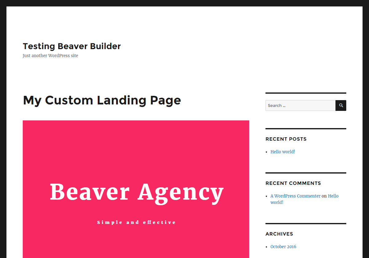 No full-width template