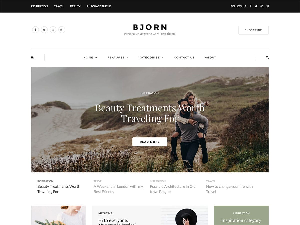 theme de blog personnel wordpress