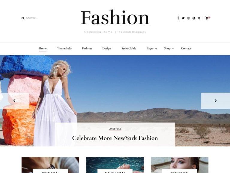 The Blossom Fashion theme.