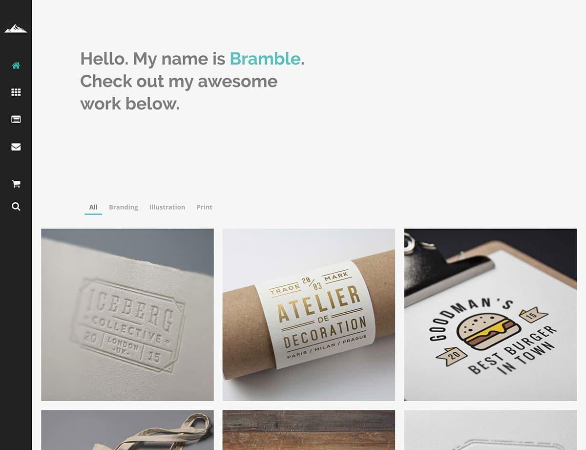 bramble-wordpress-portfolio-theme