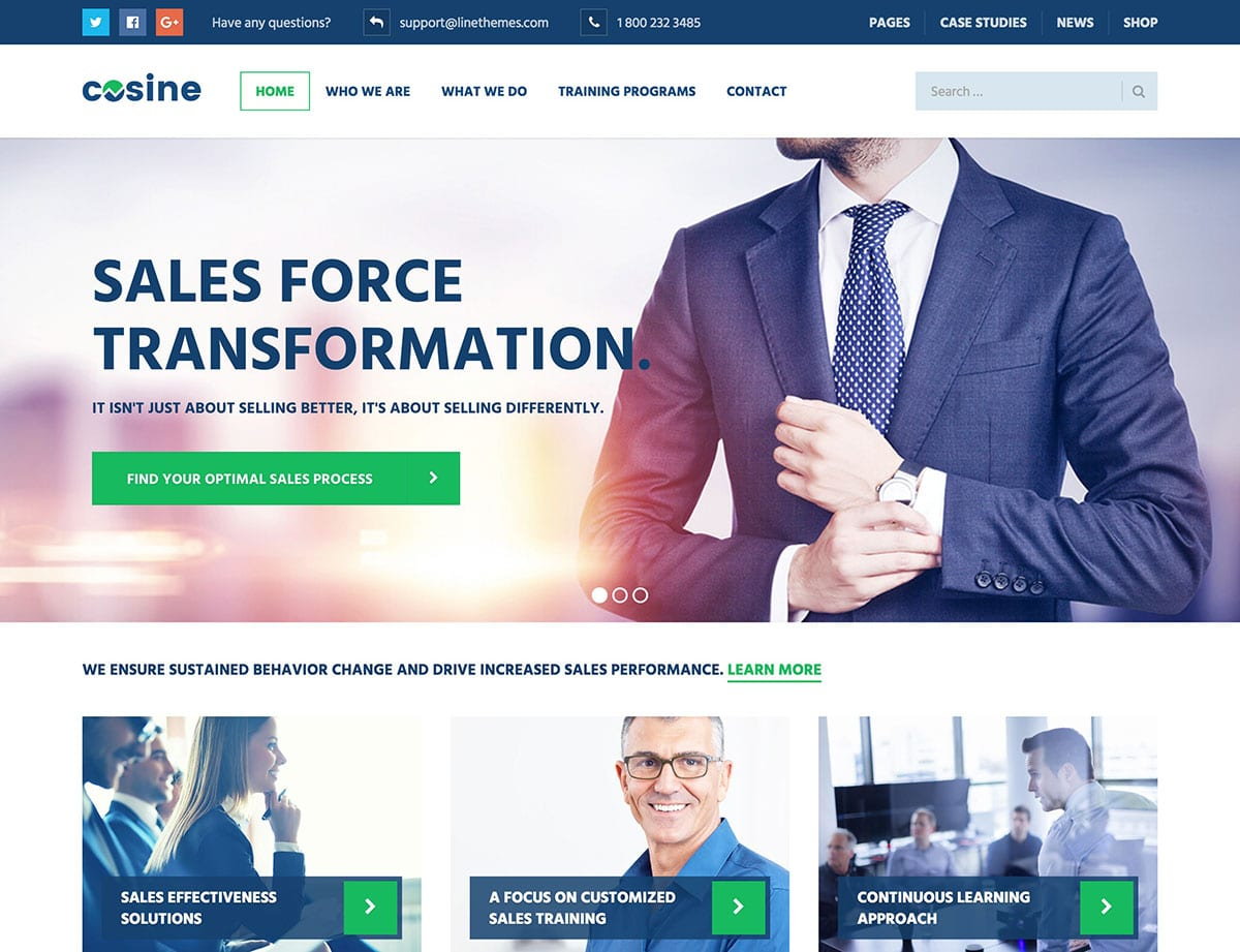 cosine-business-wordpress-theme
