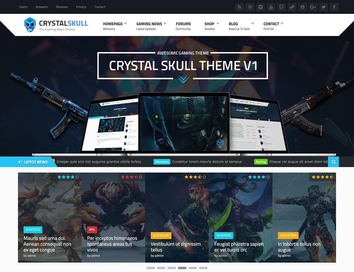 CrystalSkull-Gaming-Magazine-WordPress-Theme