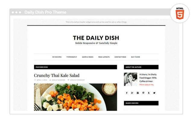 Daily Dish Child Theme