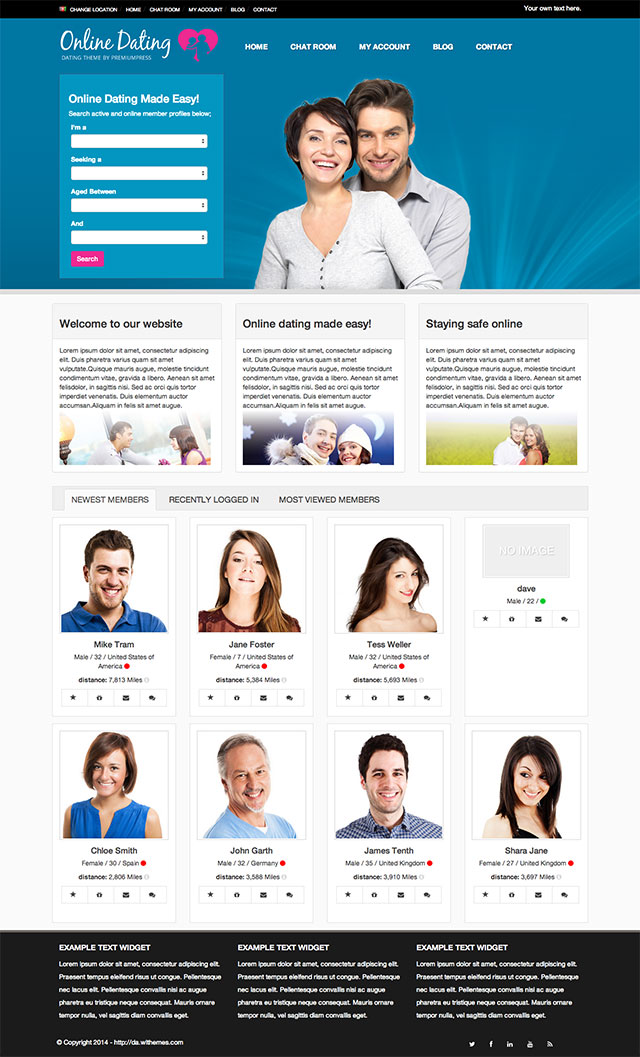 Wordpress theme dating site free