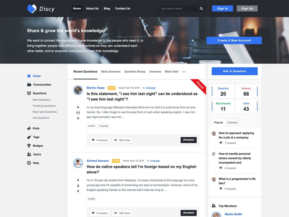 Best Question and Answer WordPress Themes, featured image