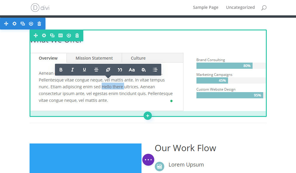 New front end user interface