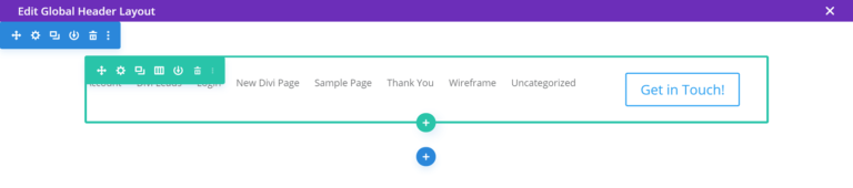 Theme Builder Edit Header