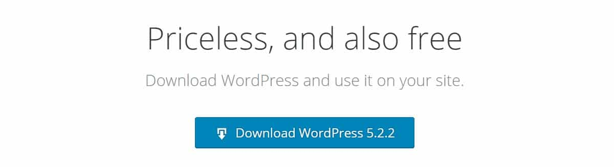 Download WordPress to your PC