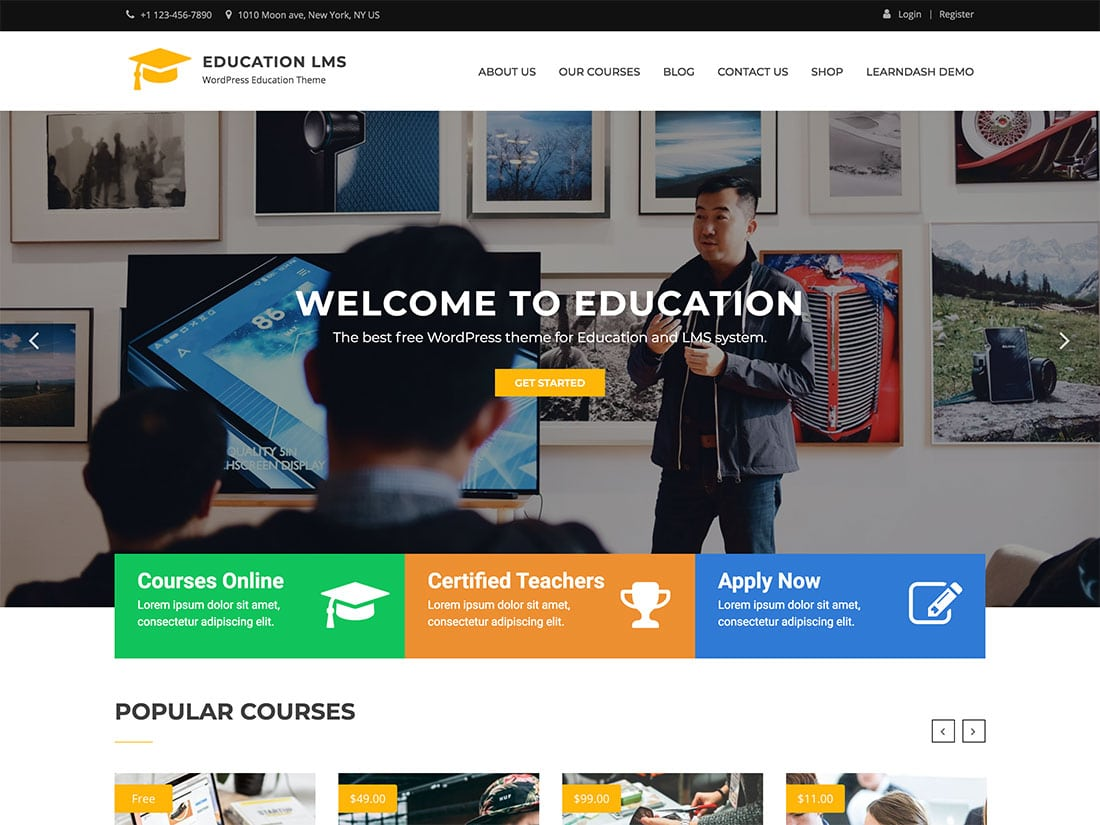 wordpress theme for corporation with many businesses