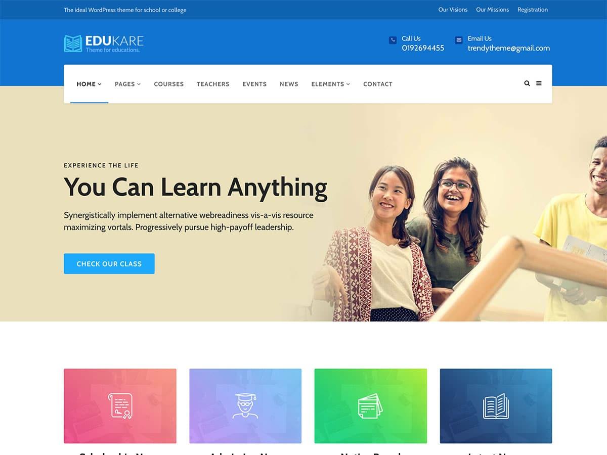 Eudkare wordpress theme 2020