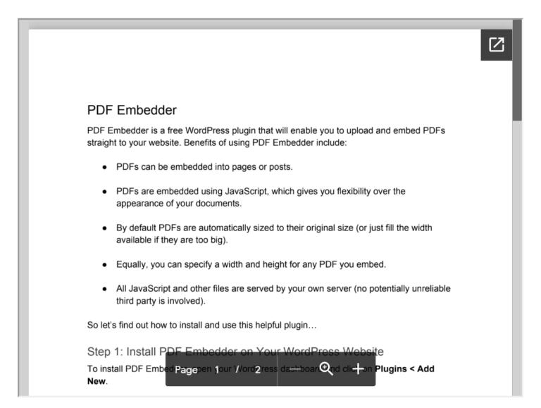 Embed a PDF File