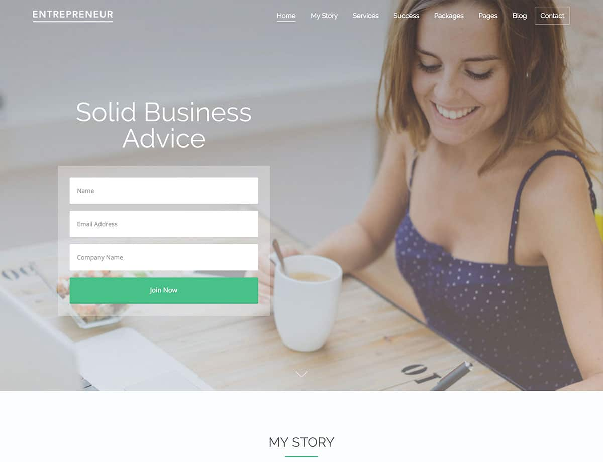entrepreneur booking wordpress theme