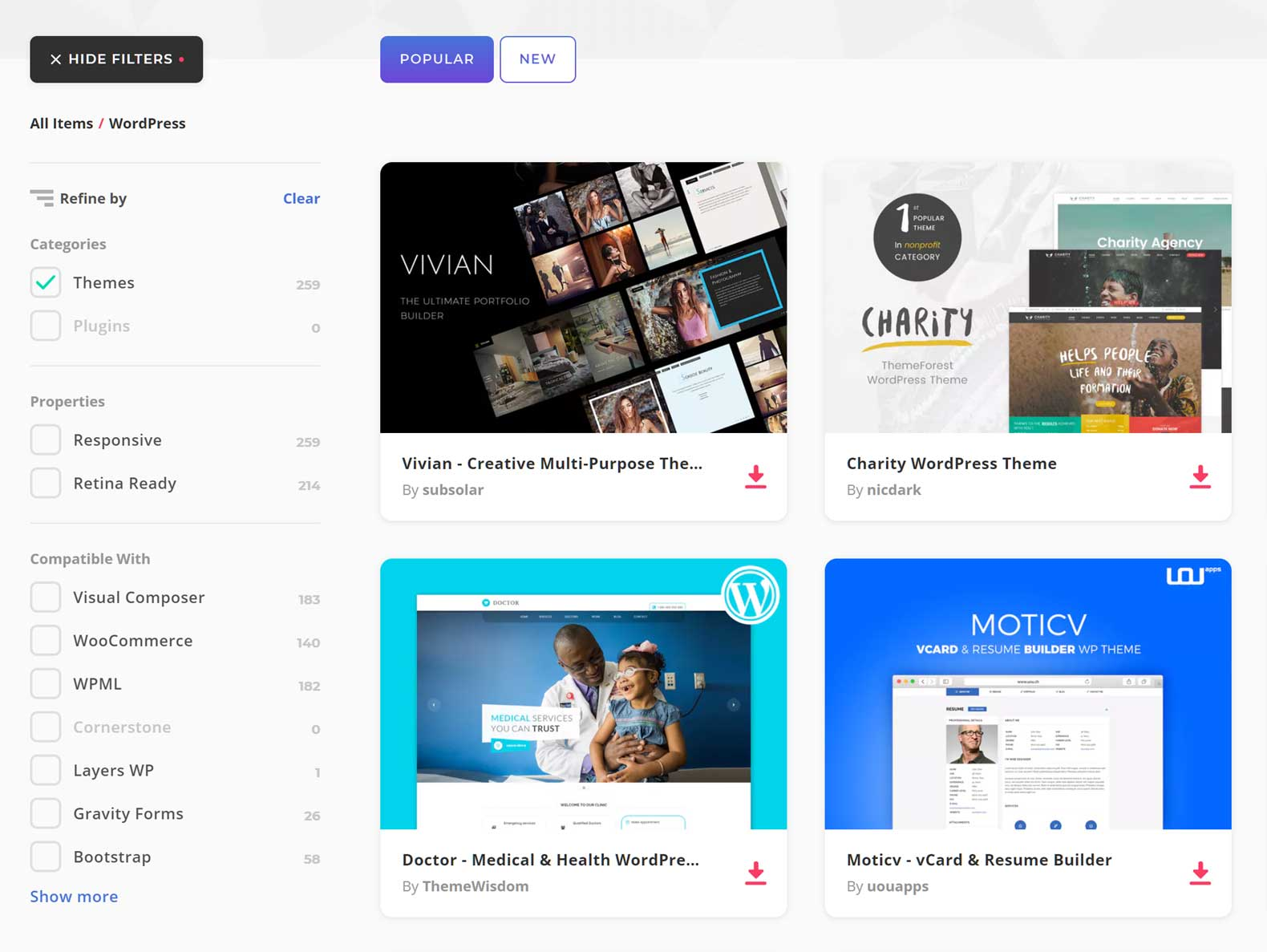 Envato Elements WordPress Themes