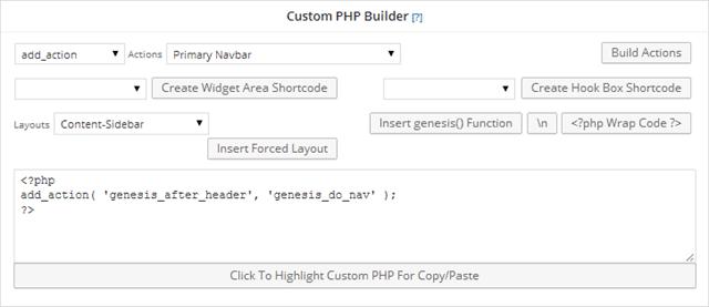 Custom PHP Builder