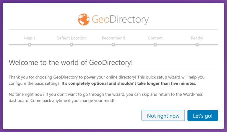 GeoDirectory Wizard