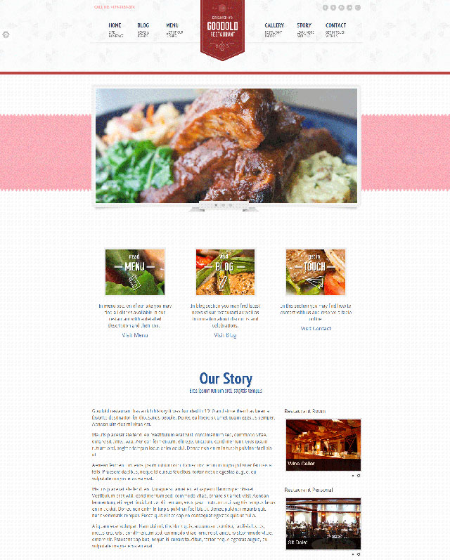 Calendar Food Menu Web Solution