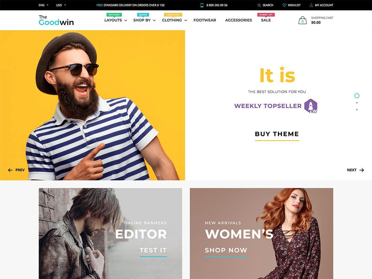 Goodwin theme shopify minimalist