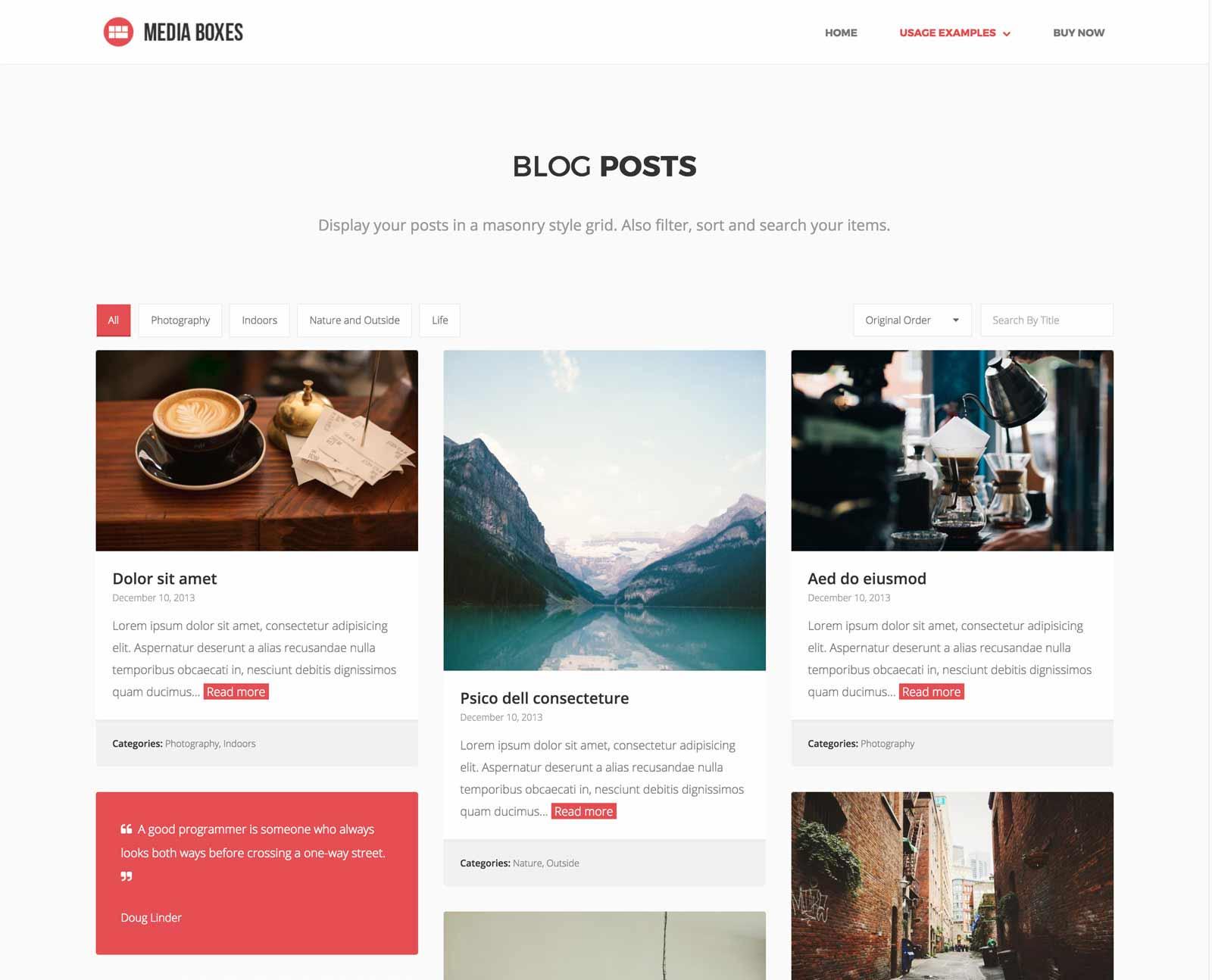 Media Boxes Portfolio Blog Posts Layout