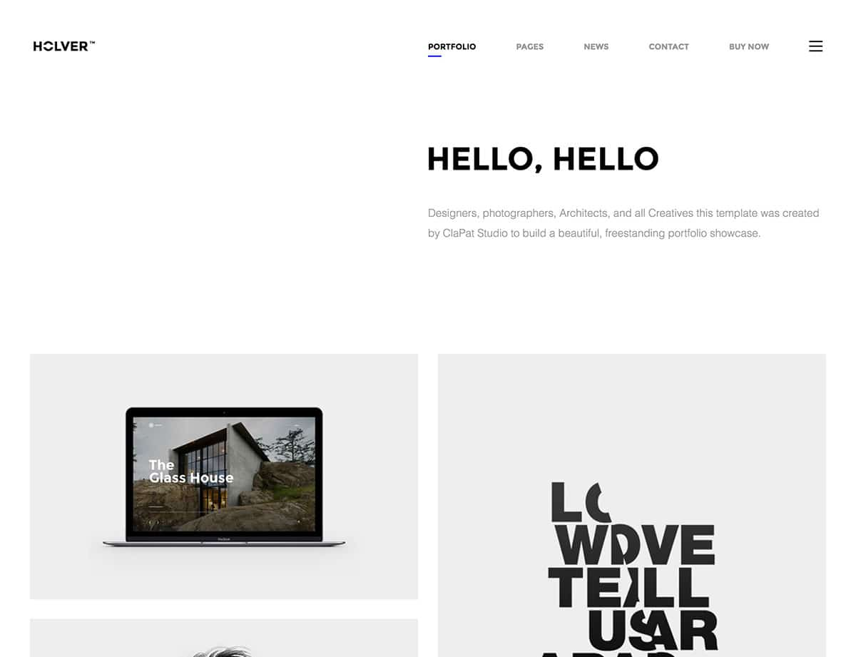 holver-minimal-portfolio-wordpress-theme
