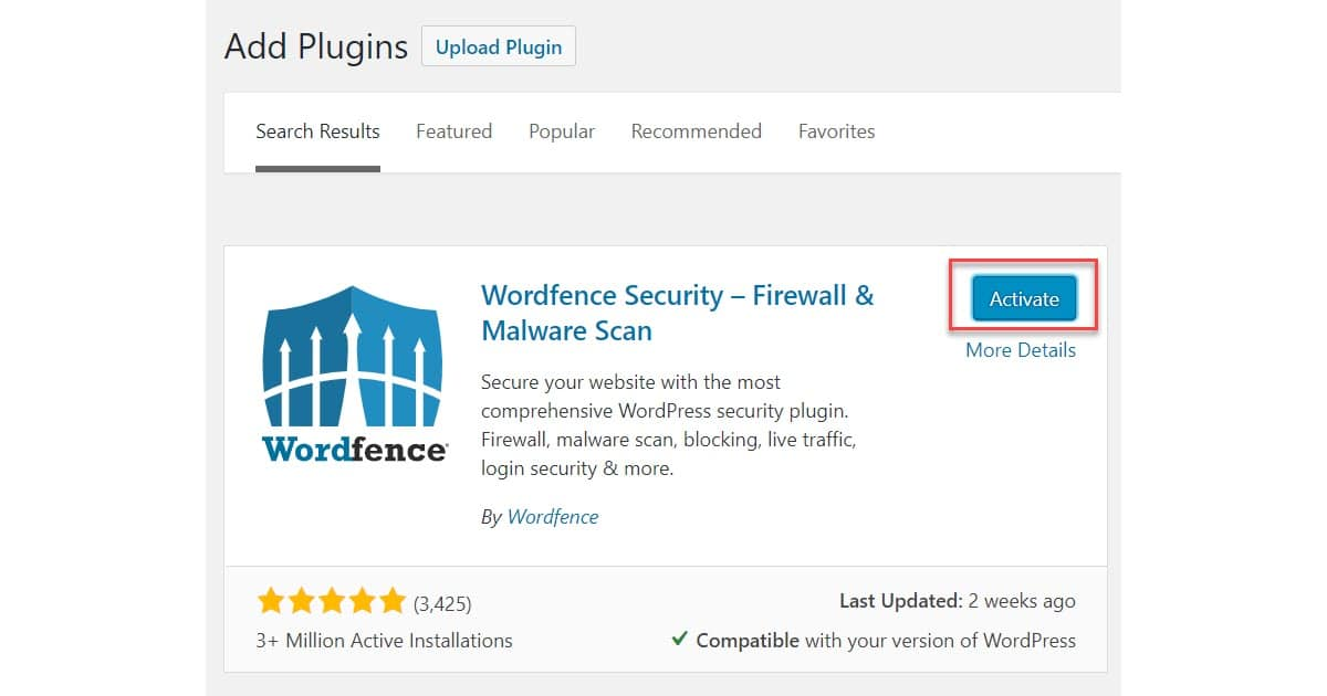 How to Install a WordPress Plugin - Wordfence