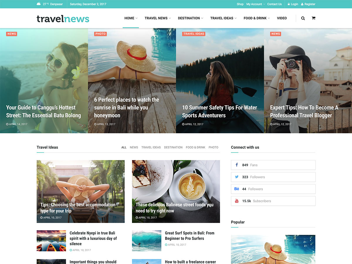 20+ Best WordPress Travel Blog Themes 2020 - aThemes