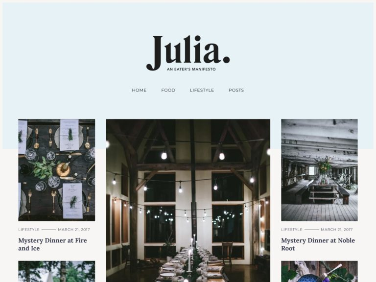 The Julia Lite theme.