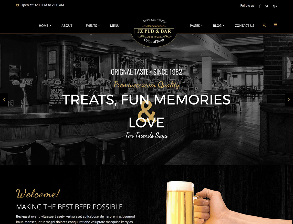 10 Best Bar Pub WordPress Themes 2021 Athemes