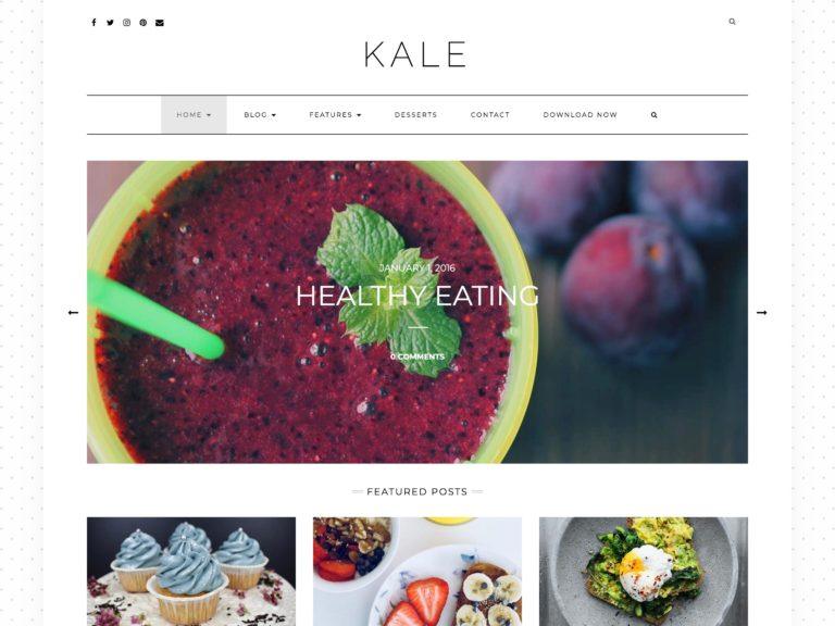 The Kale theme.