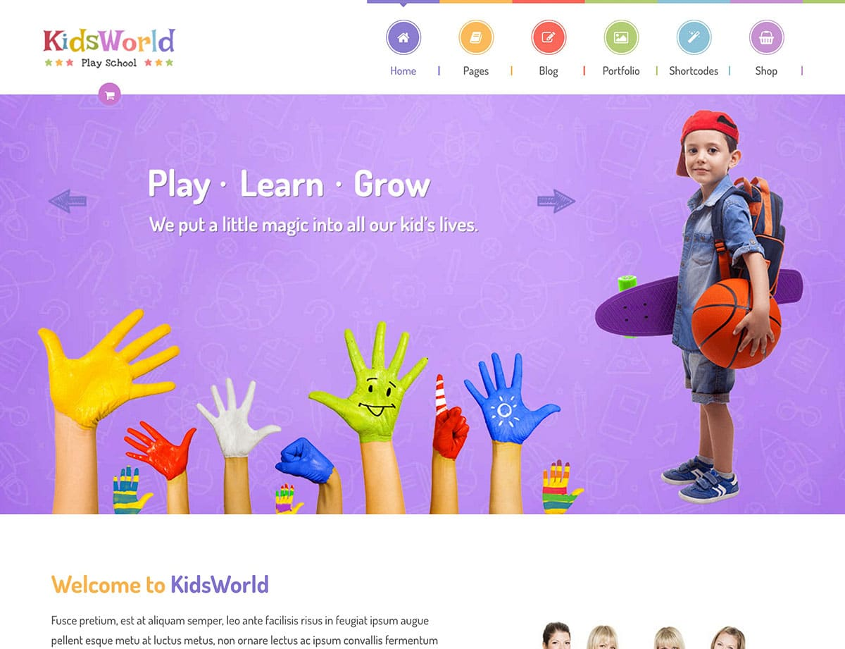 KidsWorld-Kindergarten-WordPress-Theme