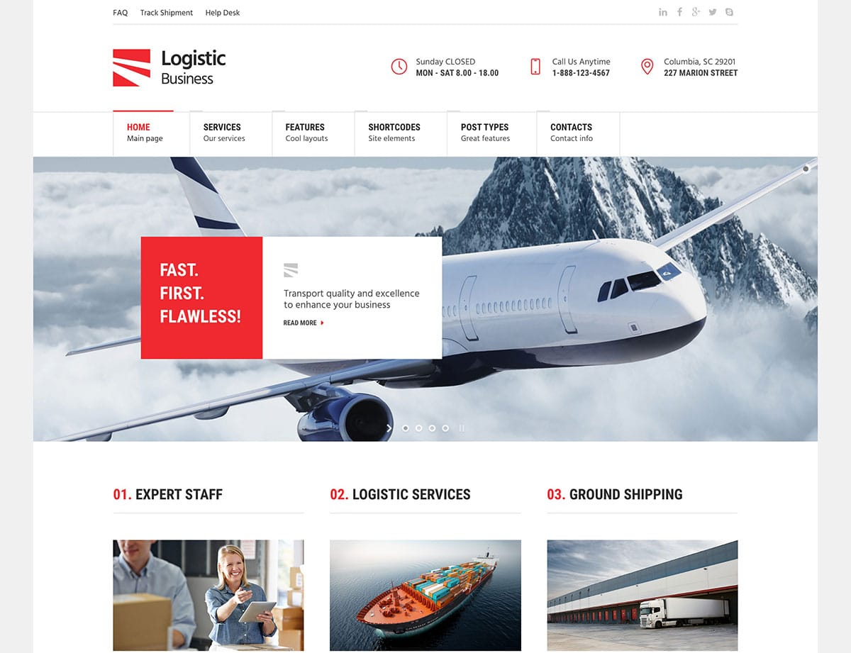 logistic-business-transport-wordpress-theme