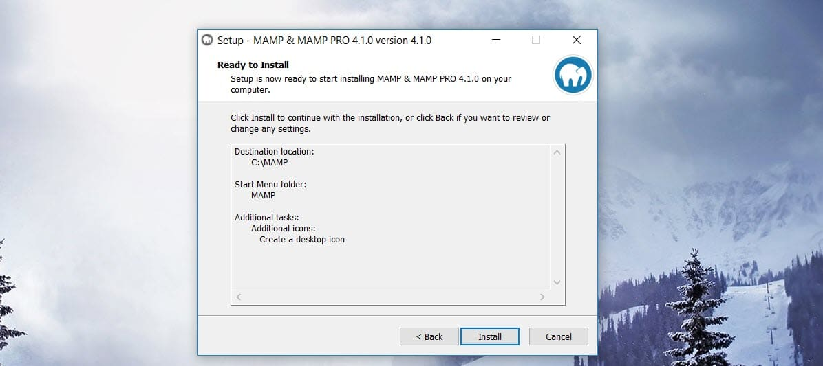 MAMP Install