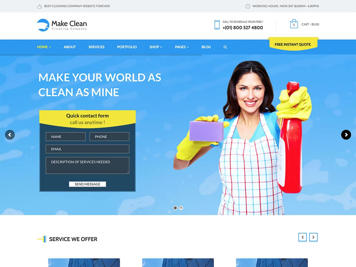 15 Best Cleaning Company Wordpress Themes 2021 Athemes