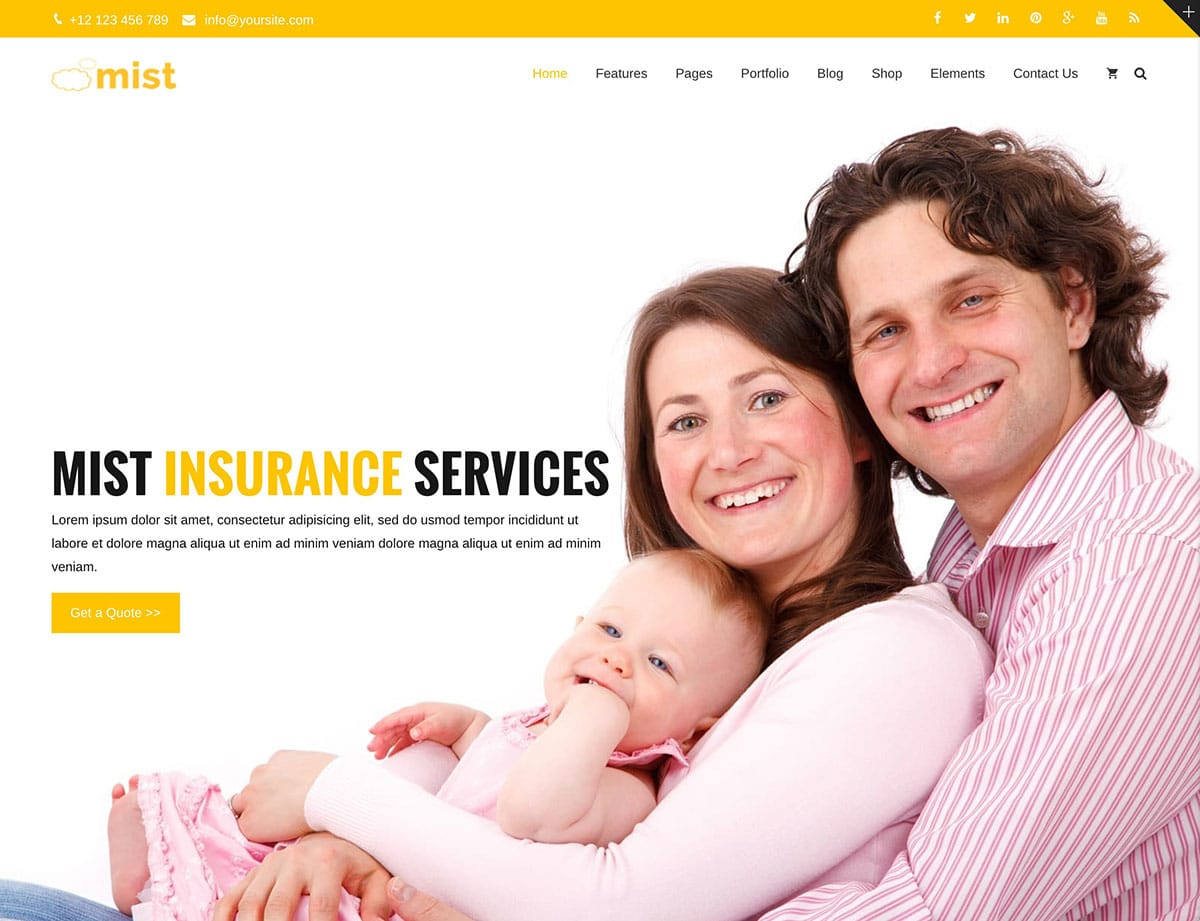 mist-insurance-theme