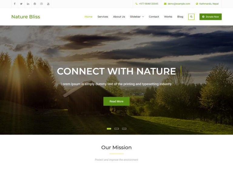 The Nature Bliss theme.
