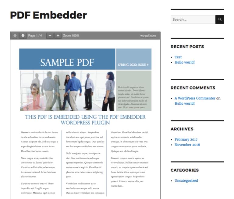 PDF Embedder Example