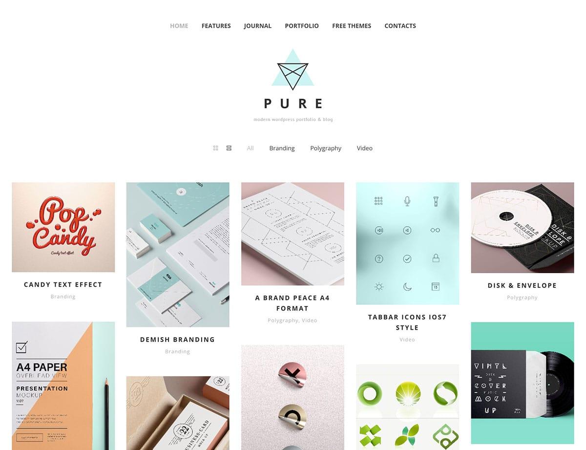 pure-free-portfolio-wordpress-theme