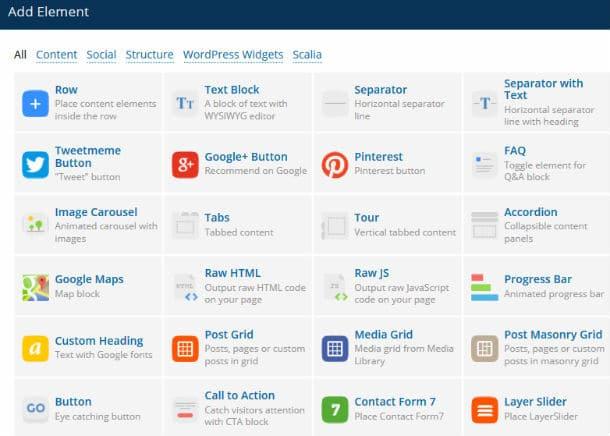 Page Builder elements