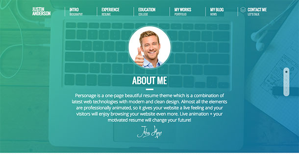 Personage-WordPress-Theme