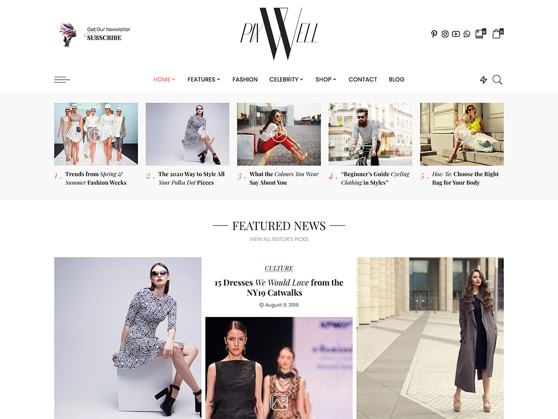 30 Best Fashion Blog Magazine Wordpress Themes 2020 Athemes