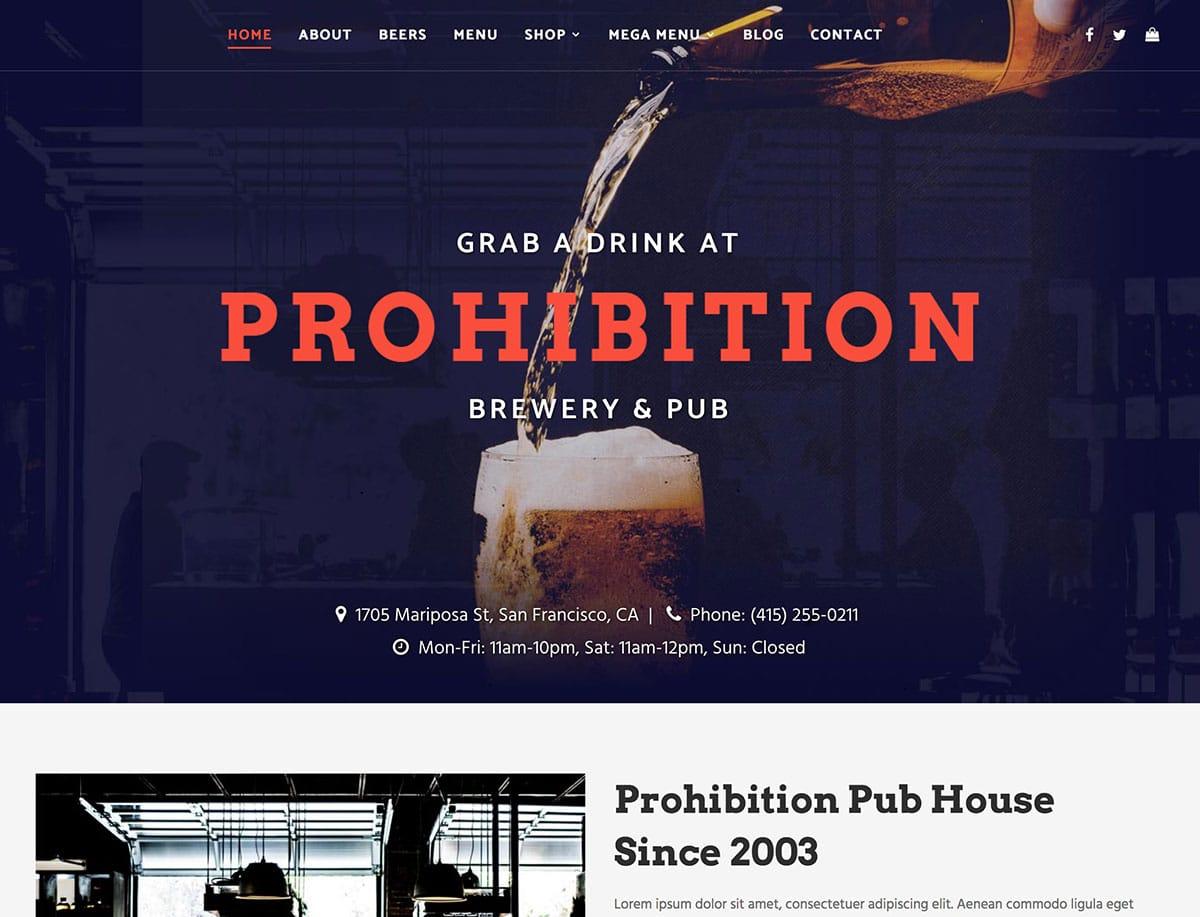 10 Best Bar Pub Wordpress Themes 2021 Athemes