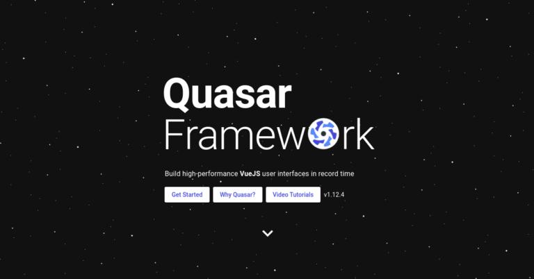 Quasar Vue UI Component Library