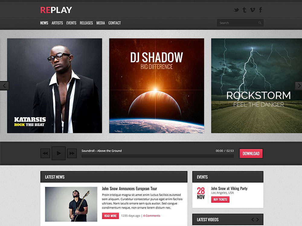 Replay-Music-WordPress-Theme