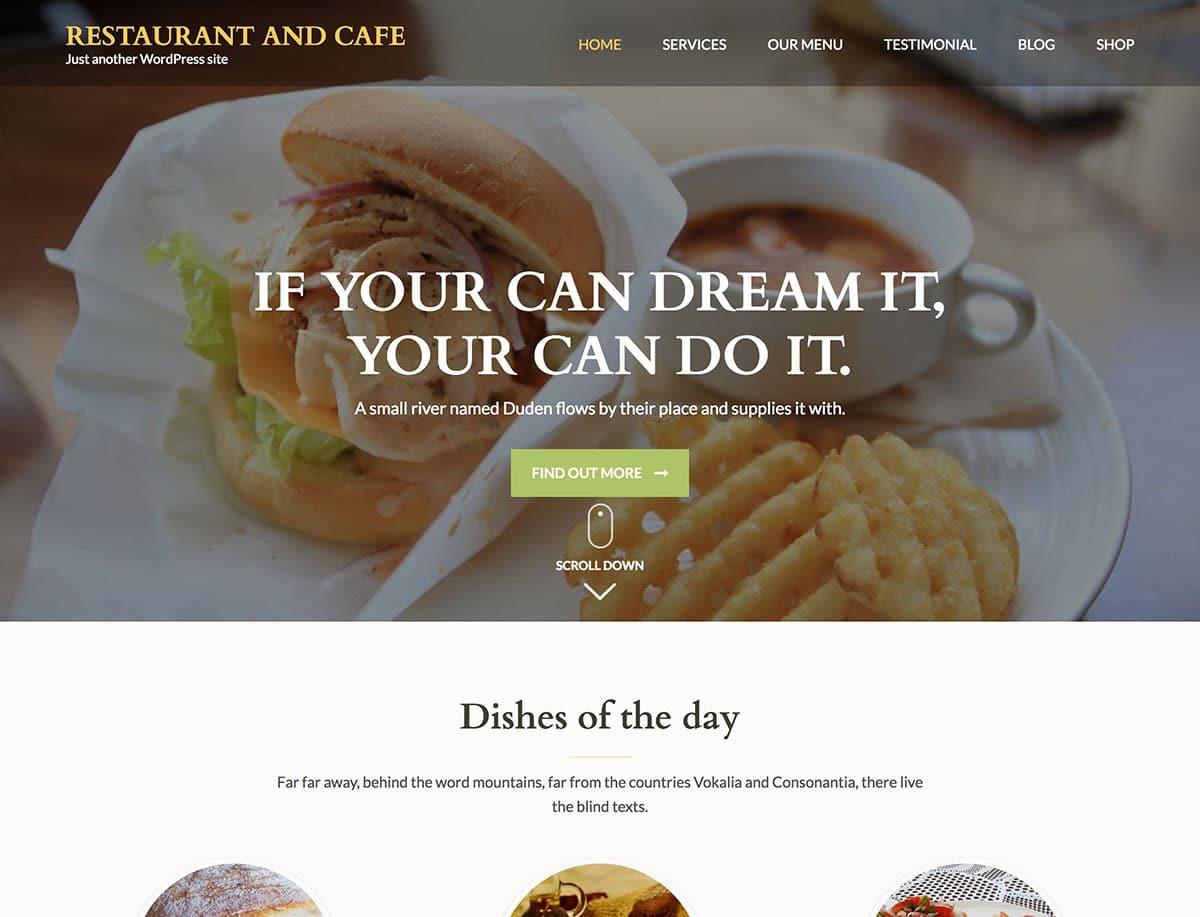 15 Best Free Restaurant Wordpress Themes 2021 Athemes