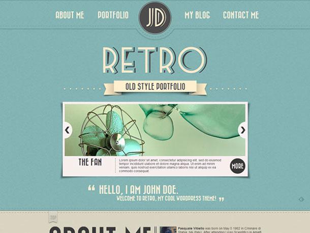 Retro-Portfolio-one-page-WordPress-theme