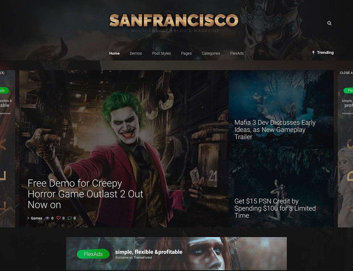 sanfrancisco-gaming-blog-wordpress-theme