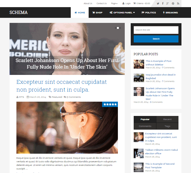 Schema WordPress Theme