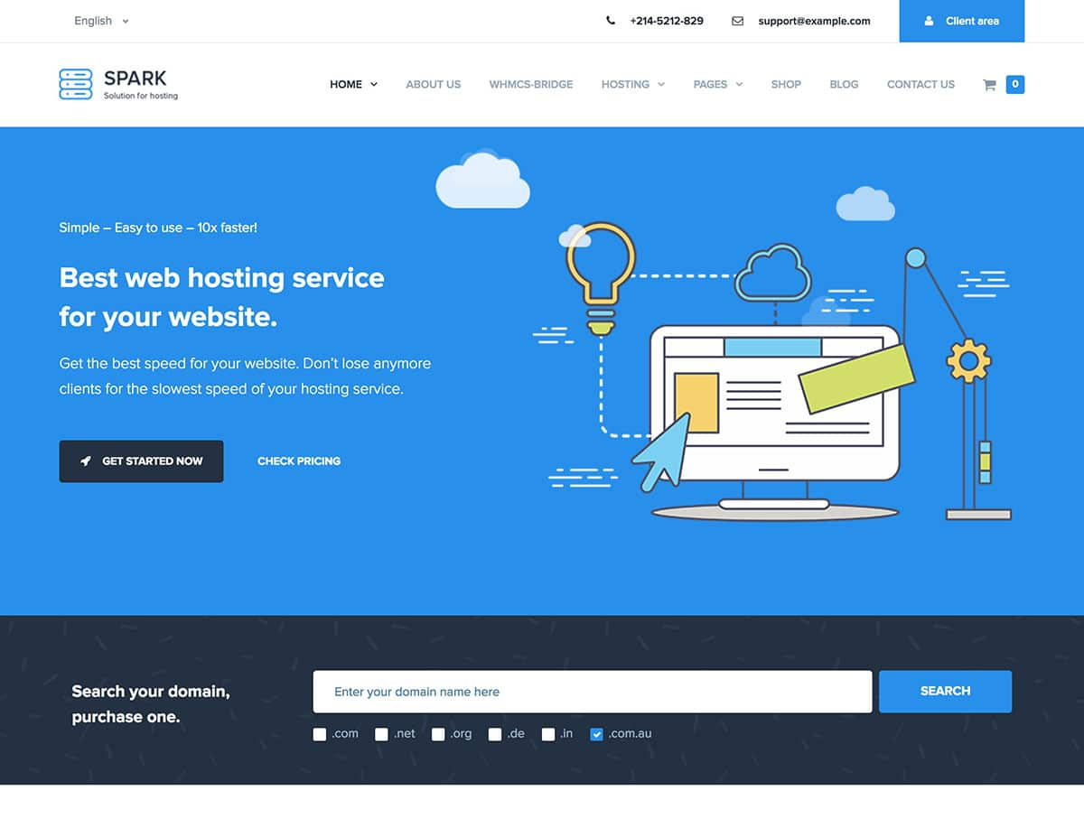 10 Best Hosting Wordpress Themes 2021 Athemes