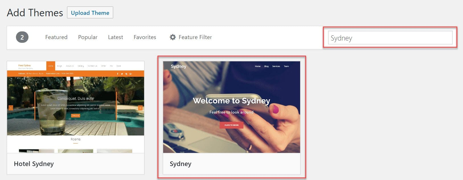 Sydney WordPress Theme by aThemes